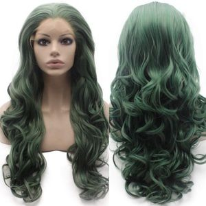 "💫CHASS 26"" GREEN BODY WAVY  LACE FRONT WIG💫 *NWT"